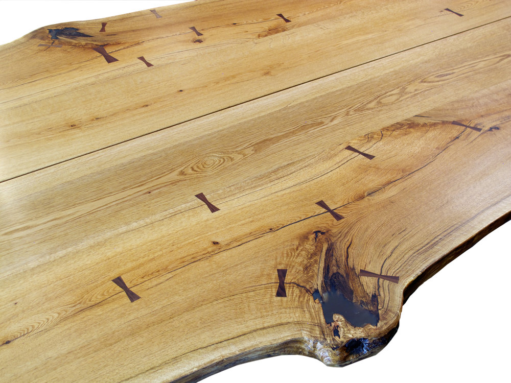 Live Edge Table Top with Butterfly Joints