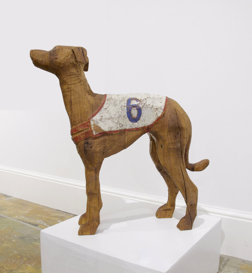 Carved Italian Greyhound
