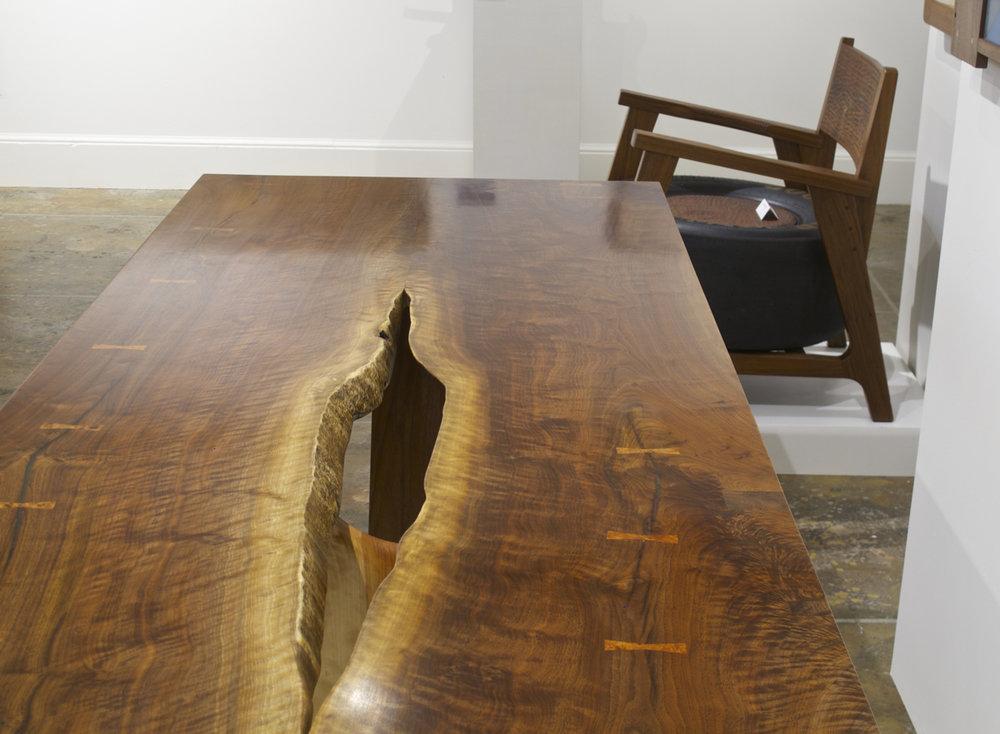 Walnut Slab Table Detail