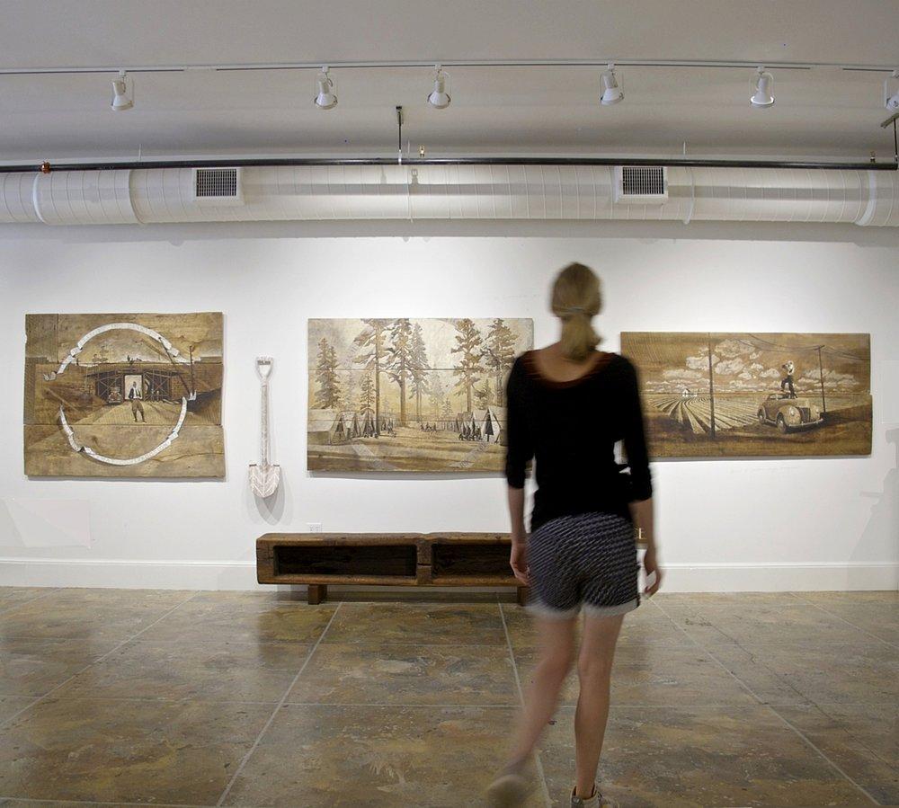 Works Progress Administration (WPA) Inspired Triptych