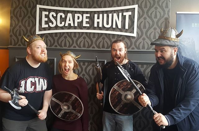 We decide to do something together for once that wasn't a show!  Massive thanks to everyone at #escapehuntedinburgh for our amazing Viking game, which we completed with only 14 seconds left on the clock! Easily the best escape room we've been to and we cant wait to go back and try the other rooms! . . . #escaperoom #vikings #teamwork #fun #iamloud #teambuilding #leaderboard #beattheclock #edinburgh #scotland #escape #history #escapegame #happy #squadgoals #picoftheday #instadaily #loudpoets #thisishowweadult #loudcomedy #scottishartis #ginger #beard