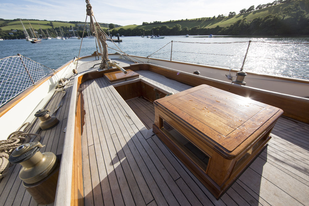 The aft deck has plenty of space for sunny days © Mark Lloyd