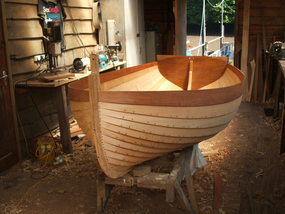 Lily Class dinghy in build