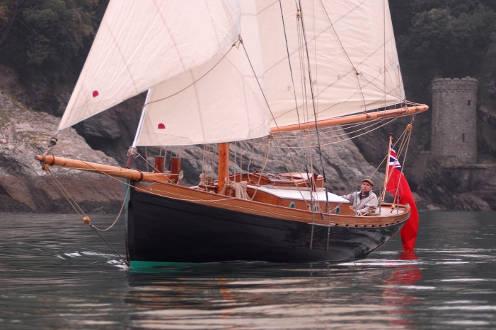 Lyra sailing off Dartmouth, a true modern classic