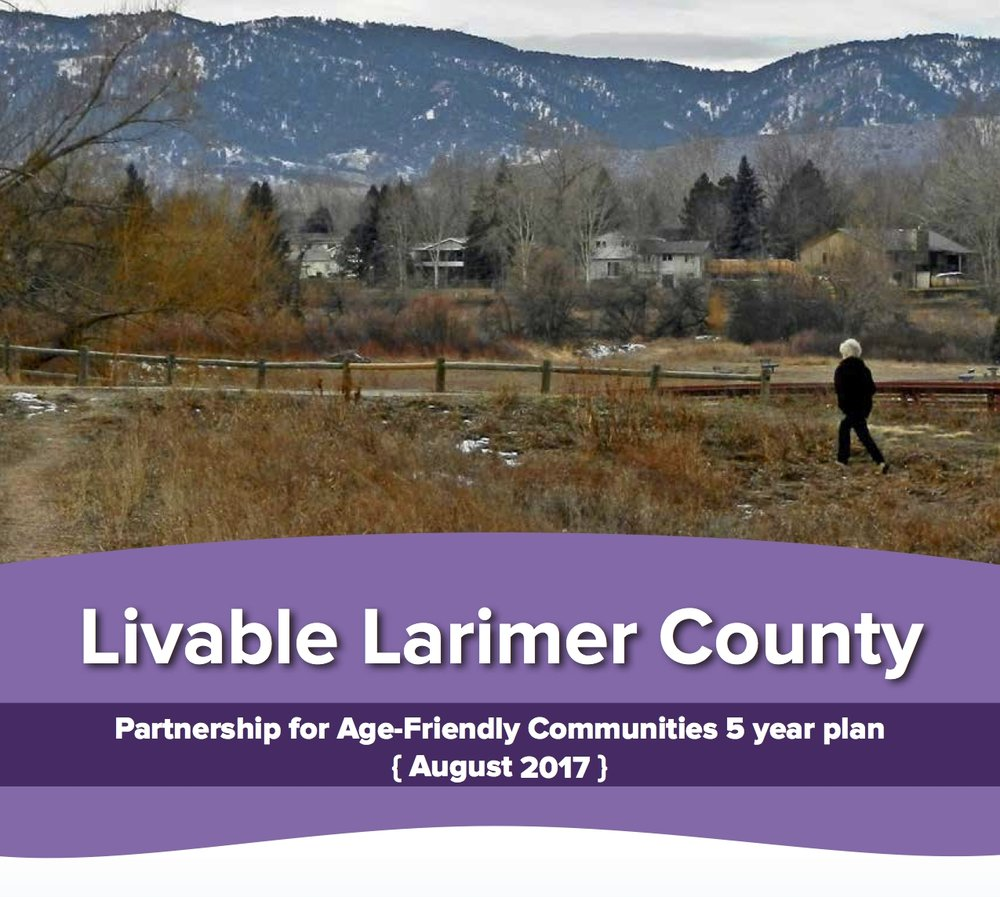 For over a year each of PAFC's four priority groups worked to identify a set of projects that would strengthen the capacity of Larimer County communities to accommodate the growing number of older adults.