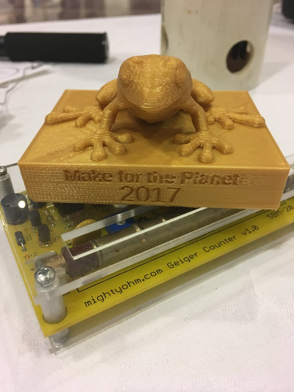The Golden Frog 3D printed trophy