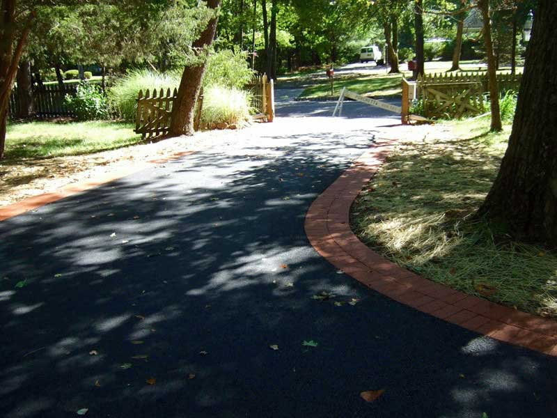 Asphalt Driveway with Brick Trim in Basking Ridge NJ