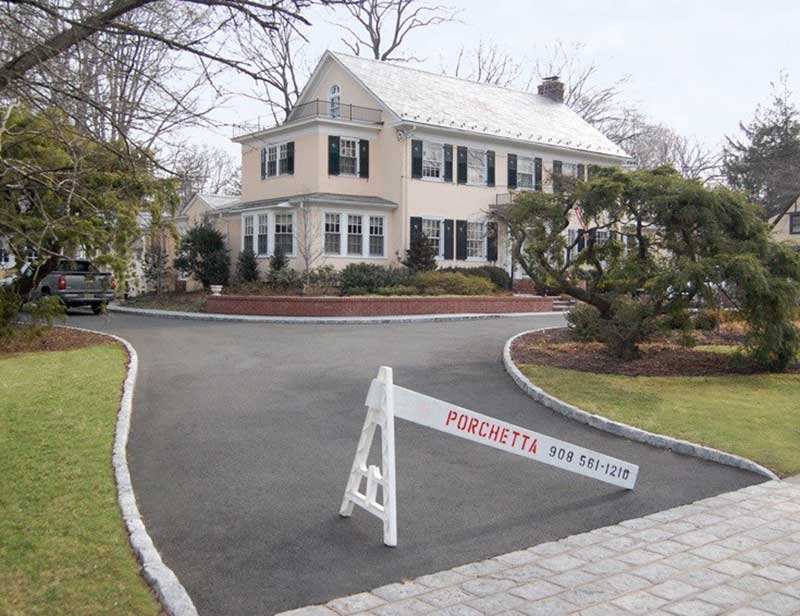 Copy of Asphalt Driveway with belgian Block Curbing Westfield NJ