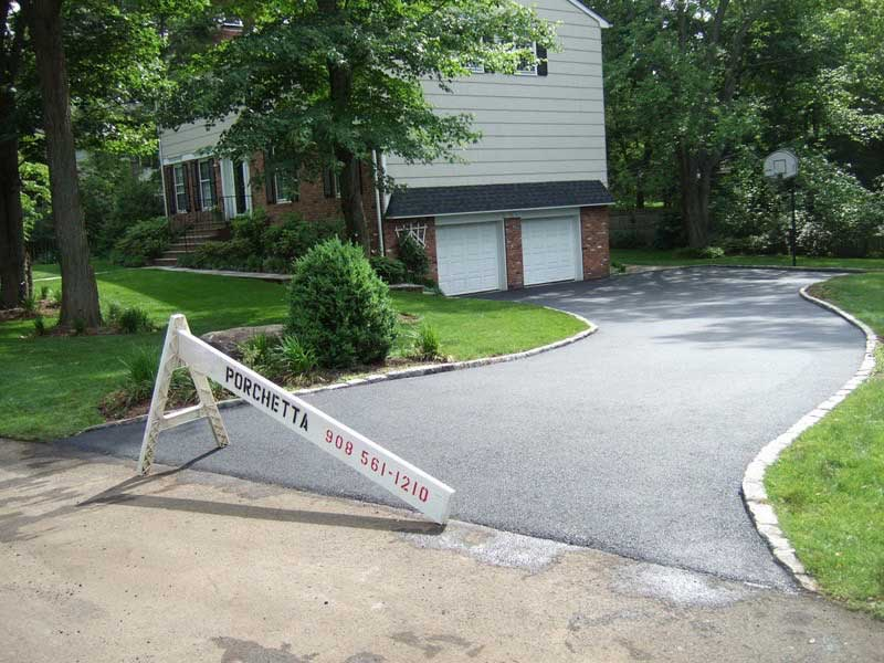 Asphalt Paving with Stone Curbing Westfield NJ