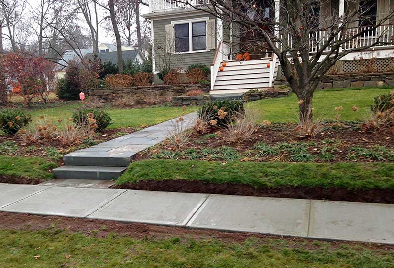 Cement Sidewalk Stone Walkway Westfield NJ
