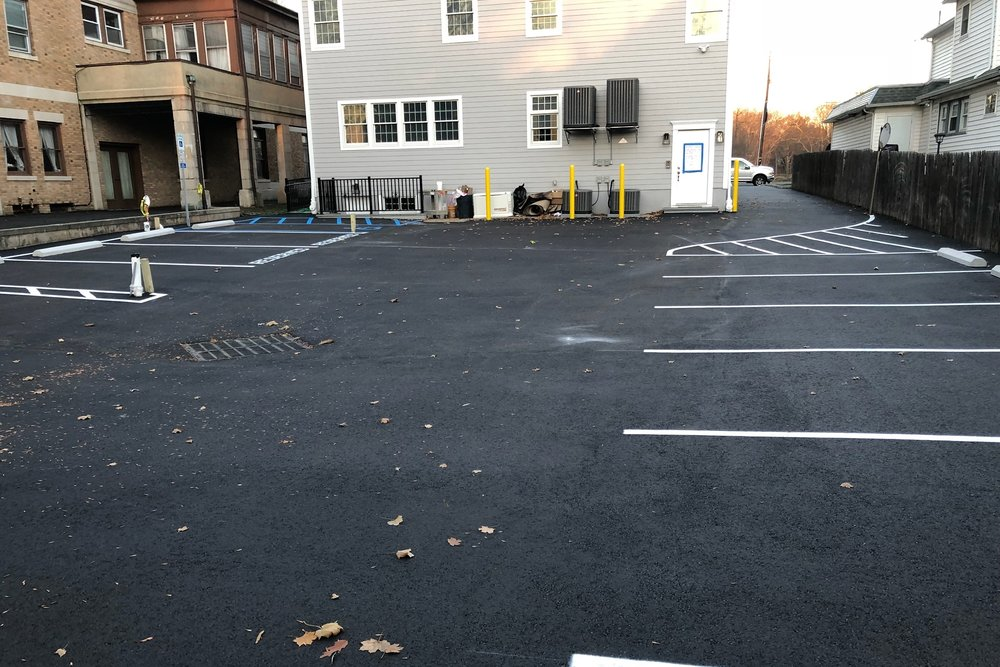 Commercial parking lot in Westfield NJ