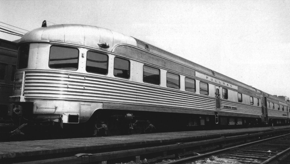 Shortly after delivery in June of 1949, the  Babbling Brook  sits in the New York Central's yard in Mott Haven, NY.