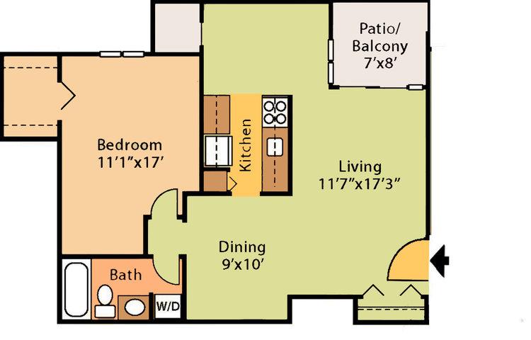 718 sq ft, $1,259 - $1,569