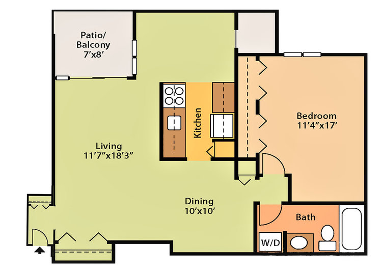 776 sq ft, $1,279 - $1,579