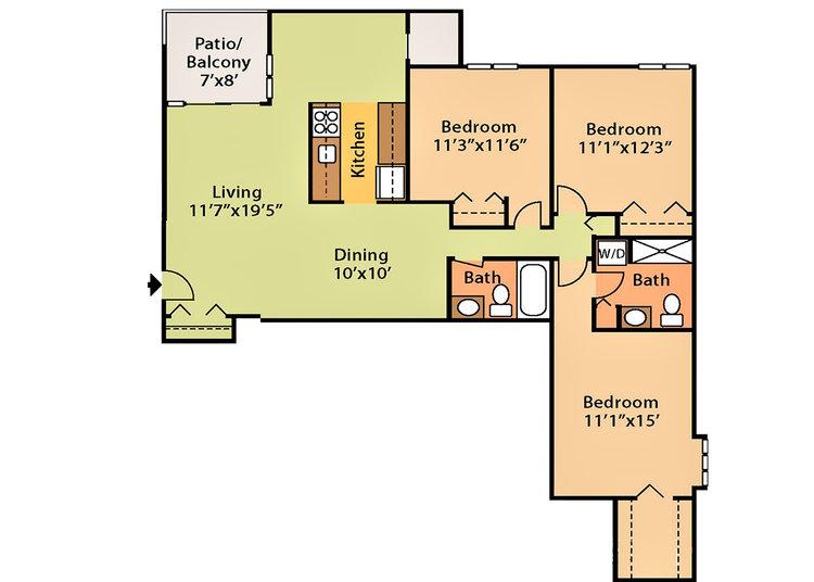 1,144 sq ft, $1,699 - $1,979