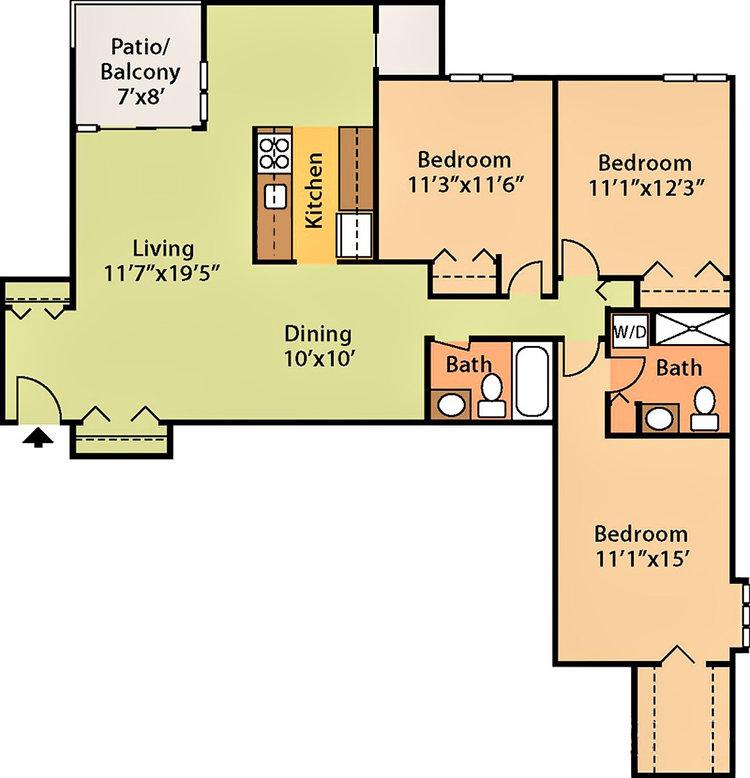 1,174 sq ft, $1,719 - $1,999