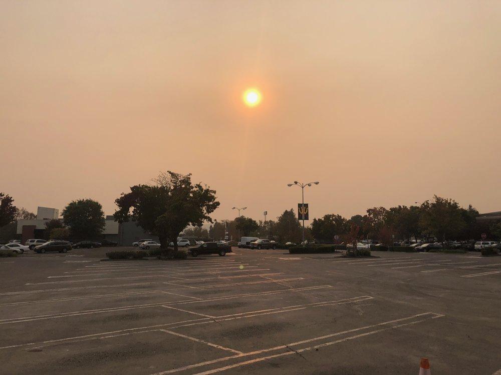 The sky in Petaluma on Thursday