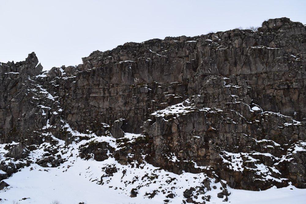 Interesting Cliff @Þingvellir National Park