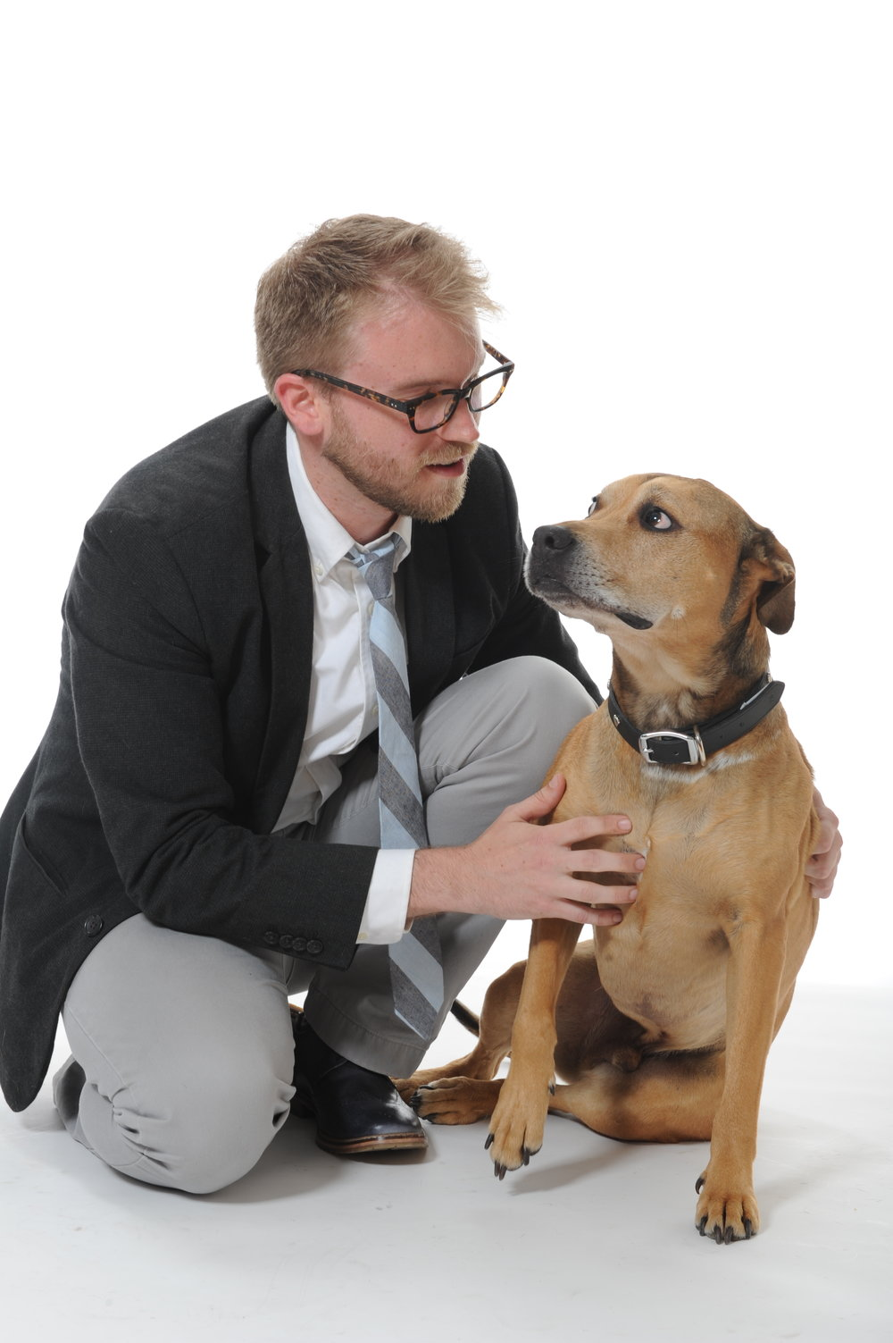 Dan and his dog, Charlie.