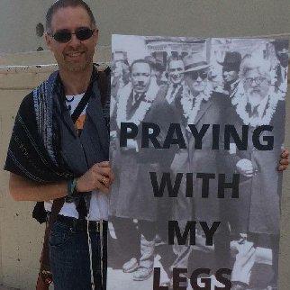 Rabbi David Paskin Praying With Our Legs