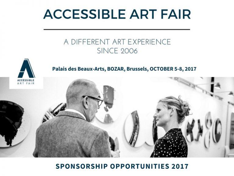 Accessible Art Fair - Partners & Sponsors - Sponsormogelijkheden