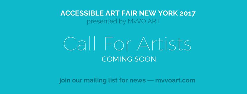 Accessible Art Fair - New York Beurs - Oproep naar Kunstenaars