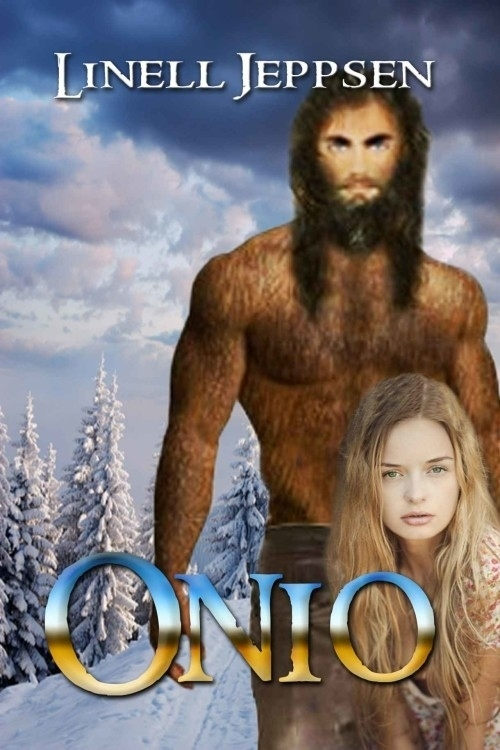 The model on  Onio 's cover is pretty, but I don't understand the pixelated,hairy man in the background. Oh, I forgot, this book is about a half-sasquatch falling in love with a woman. So, yes, already judging.