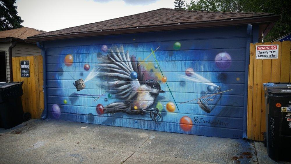 Garage Mural in Chicago