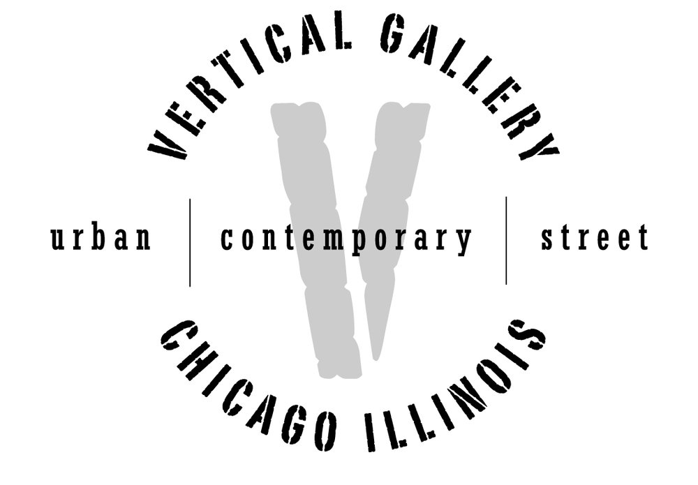 Vertical Gallery  -  is Chicago's premier urban-contemporary art gallery. Established in 2013 in the Ukrainian Village neighborhood, the gallery focuses on work influenced by street art, urban environments, graffiti, pop culture, graphic design and illustration. New monthly exhibits highlight significant emerging and established local, national and international artists
