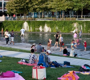 Families enjoy a day in Yards Park