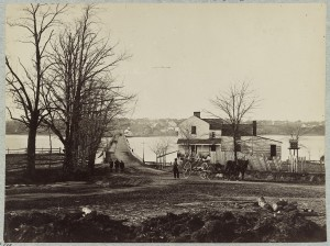 Bridge across Eastern branch of Potomac River, Washington, D.C., April, 1865