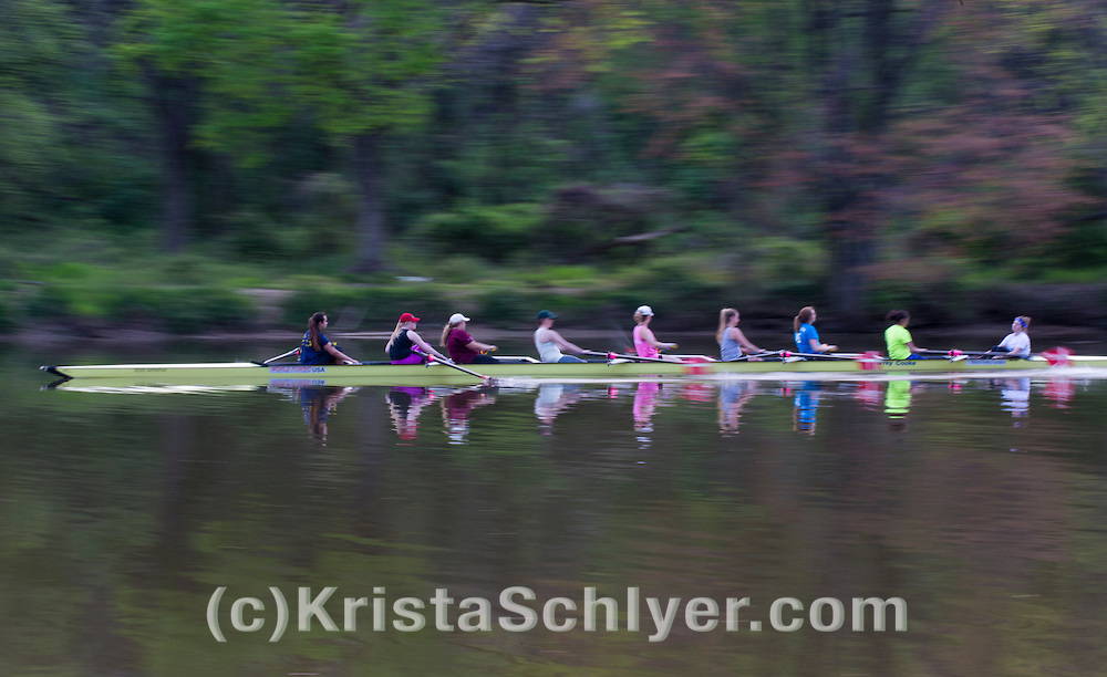 Rowers on the Anacostia River.