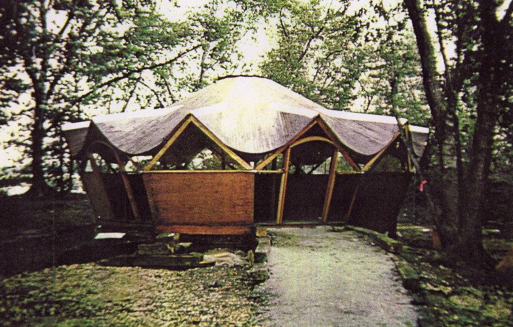 The yurt designed by Dr. Bill Coperthwaite
