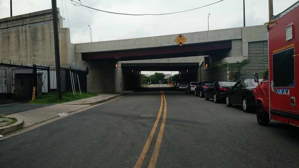 This underpass at Good Hope Road SE does not make the entrance into the park feel warm, safe nor welcoming.