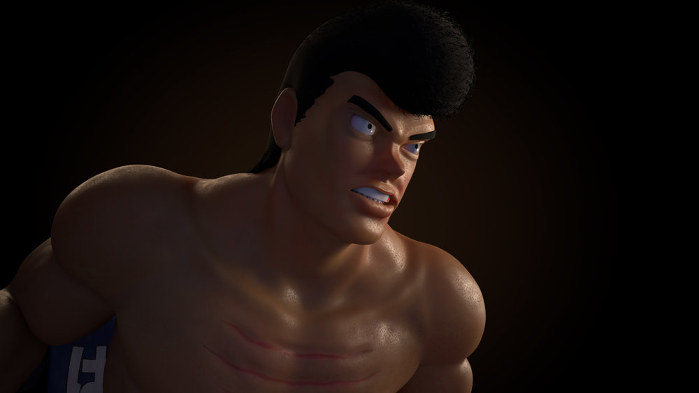 Takamura Mamoru    is a 3D sculpt by Alex Young -  Portfolio Link   These images were made during a independent studio looking at traditional headshot lighting.  Software: Maya 2016 Renderer: Arnold 5
