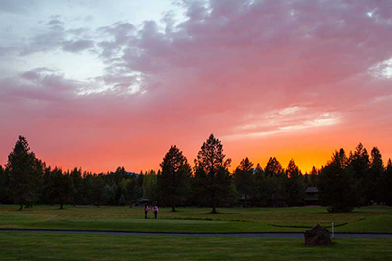 Sunset on Woodlands Golf Course