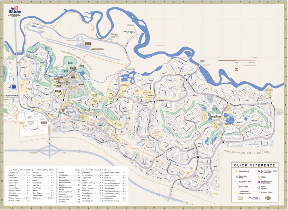 Download a pdf map of our beautiful Sunriver community!