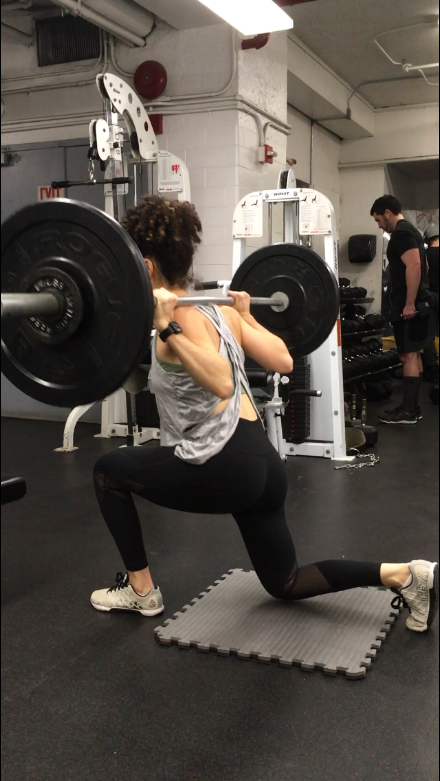 Barbell-Lunge