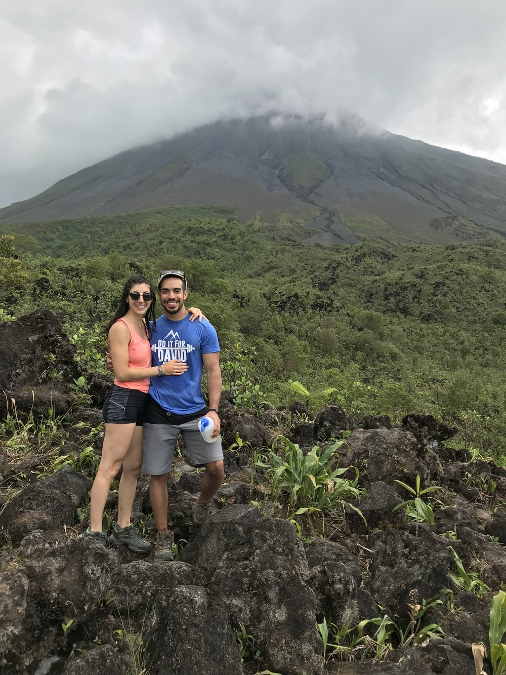 1.5 hour hike up to Arenal Volcano