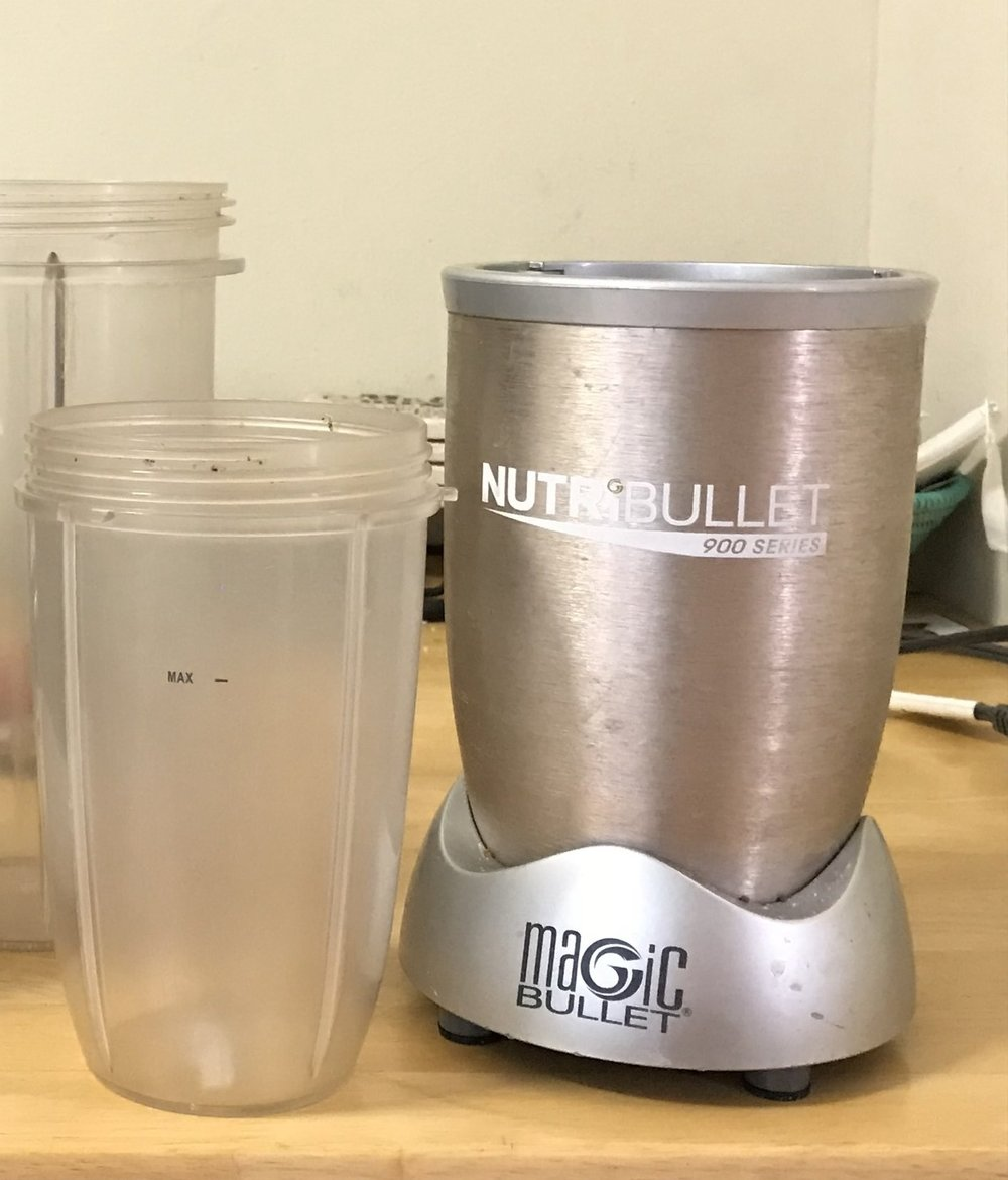 Our Nutribullet has some battle scars from years of heavy use