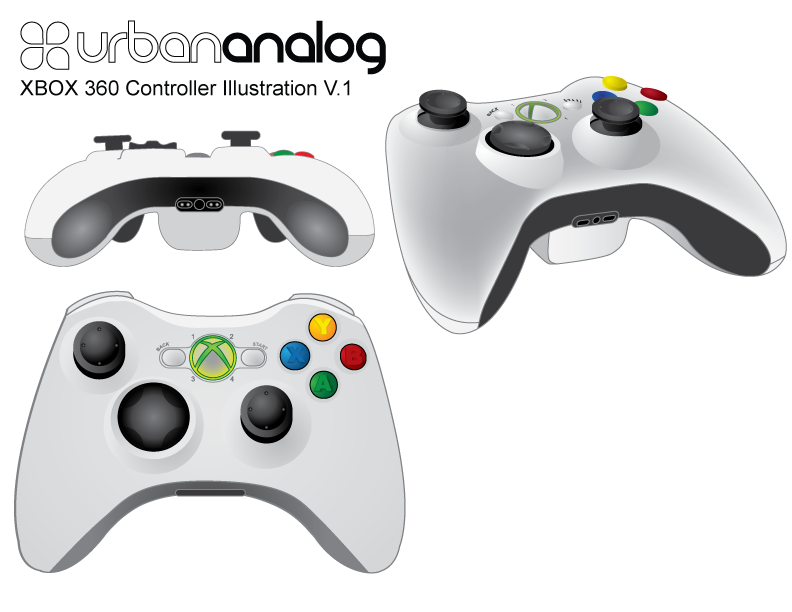 XBOX Controller designed in Adobe Illustrator