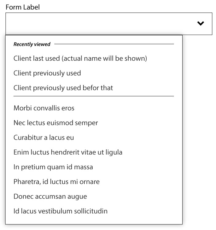 Diagram:  Modified input form W/ autocomplete & predictive typing – PREDICTIVE TEXT on focus