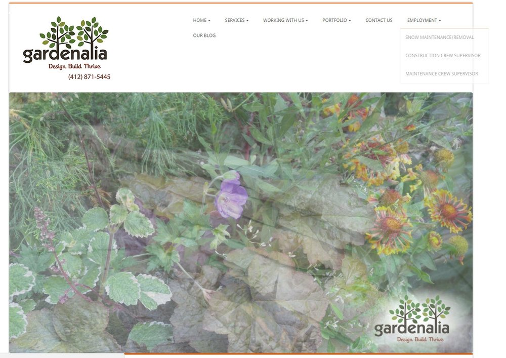 Gardenalia - Original Website was clunky and had many broken links. It was difficult to update and client was not happy with the business impression it left with clients.