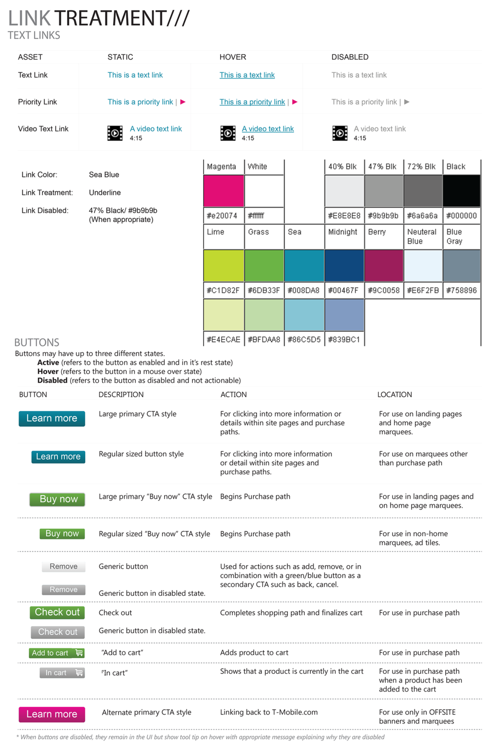 T-Mobile Style guide unification