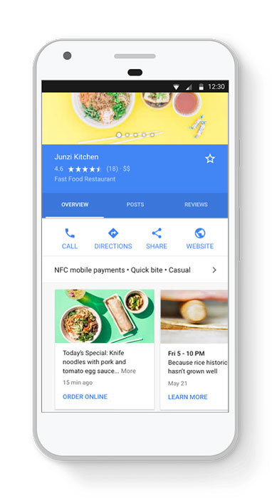 Google business page phone image