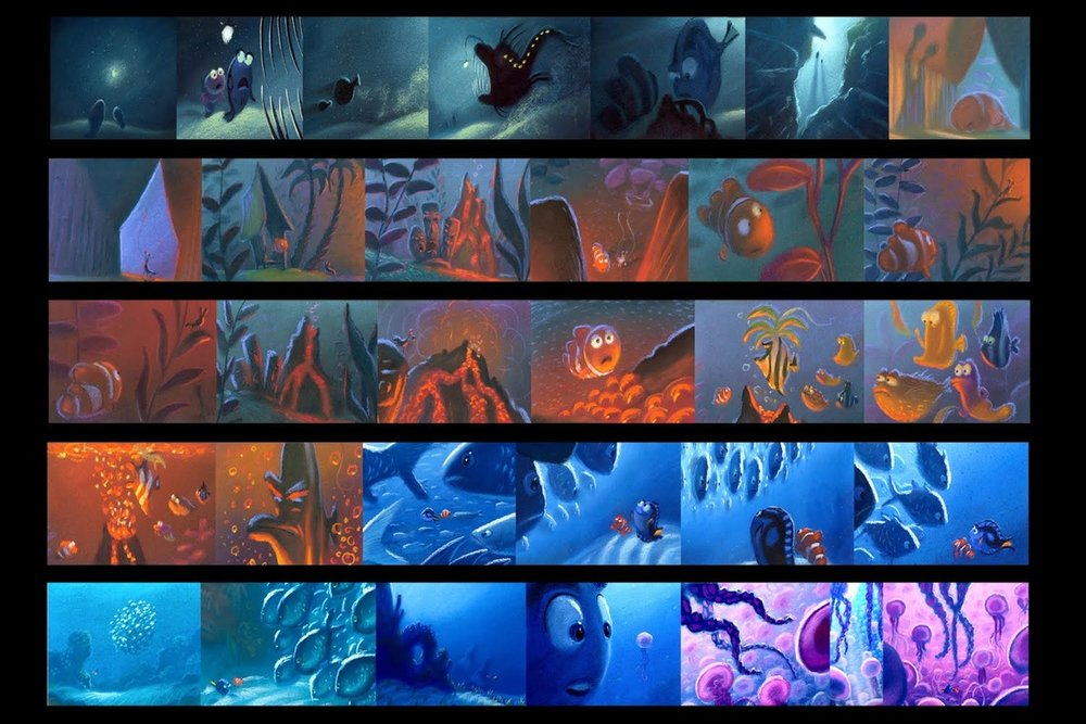 Finding Nemo Storyboard