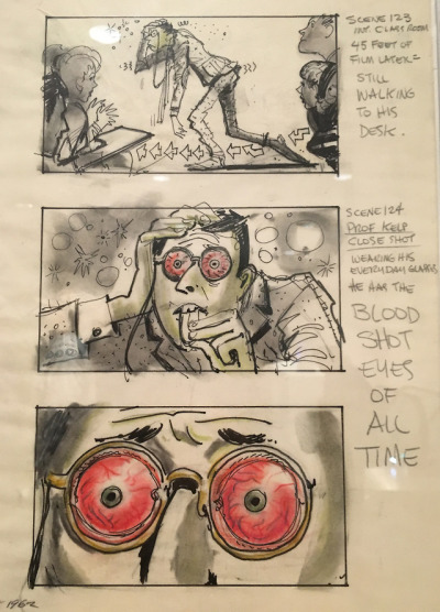 John Lauris Jensen storyboards for  The Nutty Professor