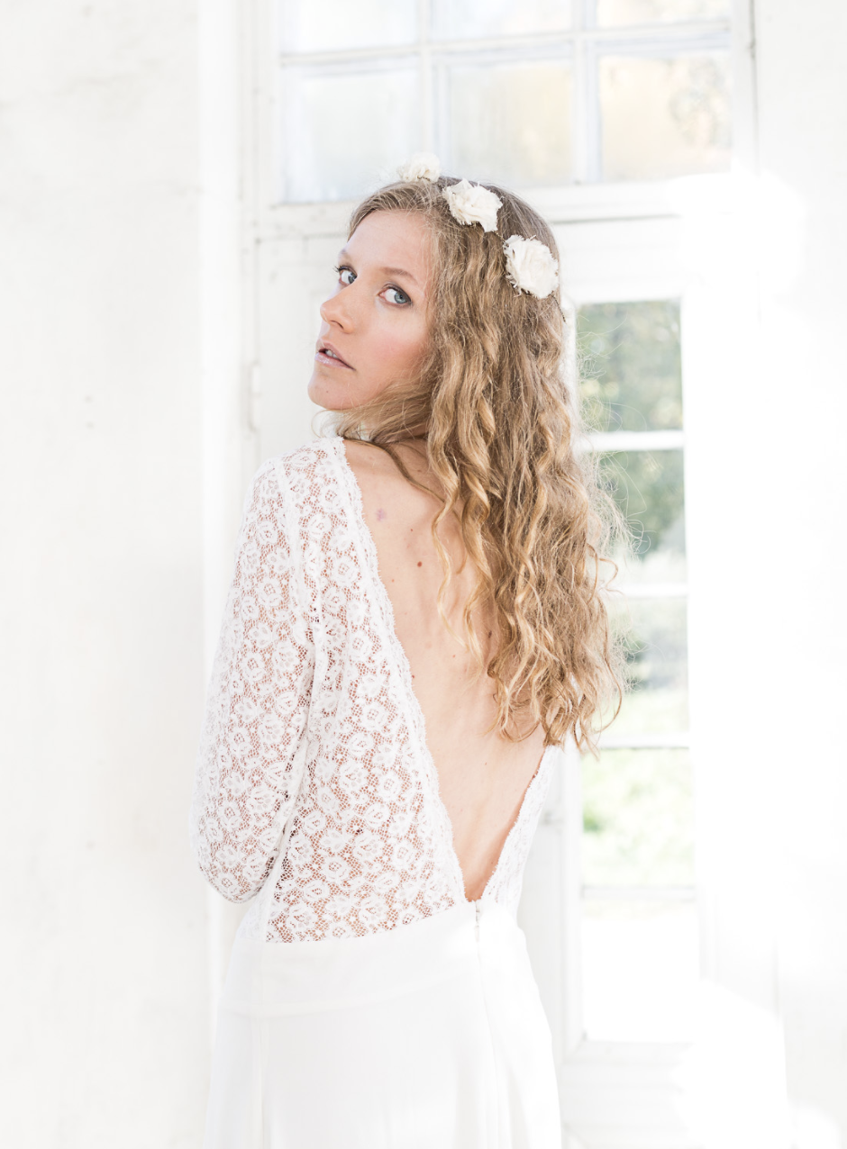 Minna Hepburn (Brixton, London)   Each piece is hand embellished and made from sustainable, organic, recycled and locally produced textiles.  Their signature look combines gorgeous materials, an abundance of lace, a little sexiness with a boho look.