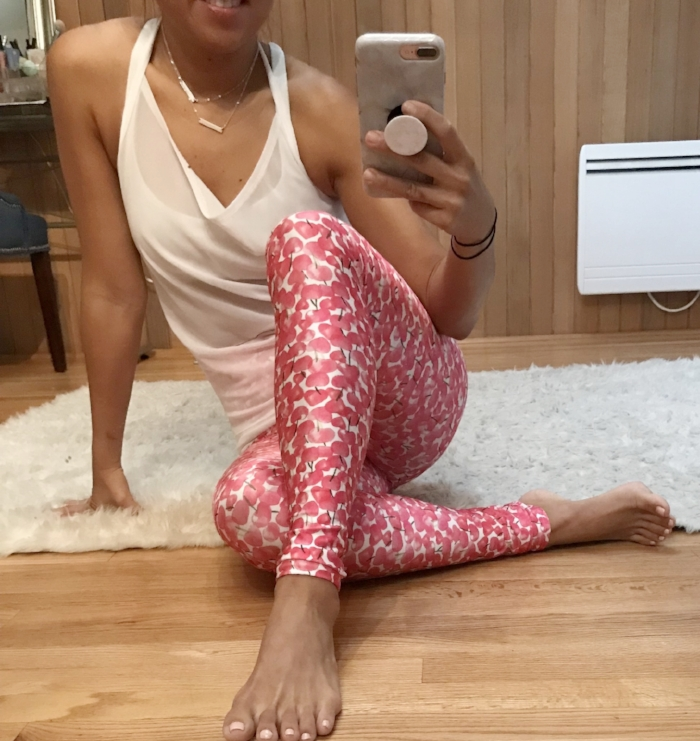 4ff6ed4b1a These leggings were just the cherry on top of a perfect morning workout!  They are high waisted and fit perfectly but this top is what makes this  outfit.