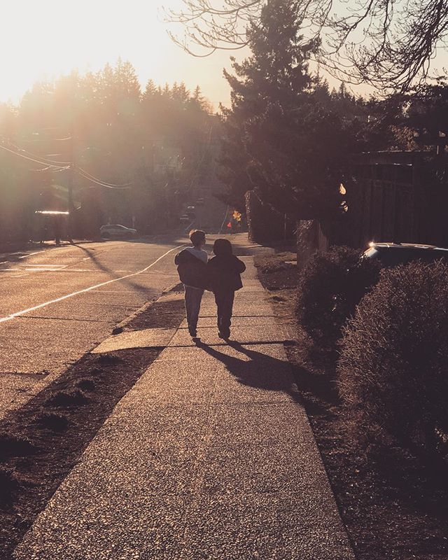 To endless sunshine and never ending evening walks... #springiscoming #momlife #lifewithboys #pnw #seattle #brothers